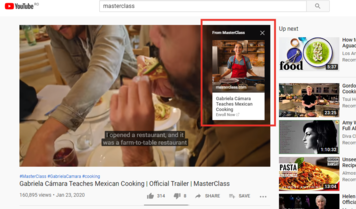 Youtube Overlay Ad Example - Visitor Analytics Blog