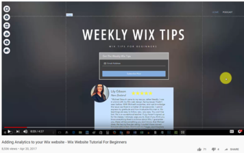 wix training academy video of visitor analytics