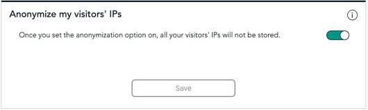 Anonymize visitors IPs on a website