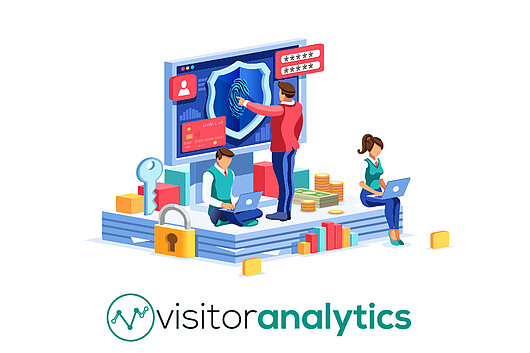 Illustration d'empreintes digitales - Visitor Analytics suivi sans cuisson