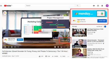 Youtube Display Ads and Skippable Ads Example