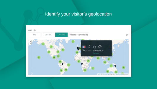 Visitor Analytics Map for Weebly