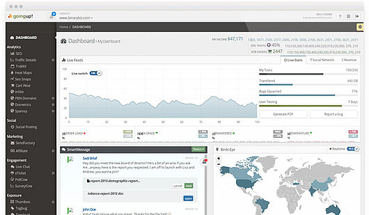 Best website analytics - screenshot of Goingup