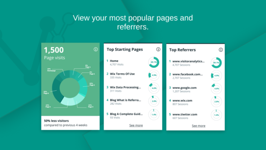 Visitor Analytics Pages Referrals for Weebly