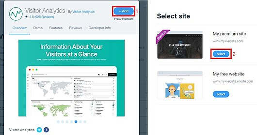 The easiest way to add Visitor Analytics widget from Wix market