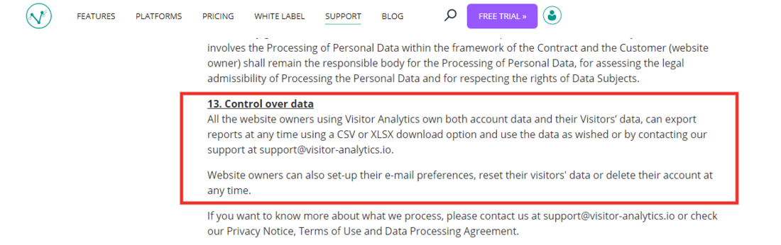Visitor Analytics Blog - Data ownership best practice for GDPR