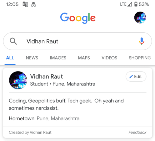 Google Profile Cards Tested in India - Visitor Analytics Blog