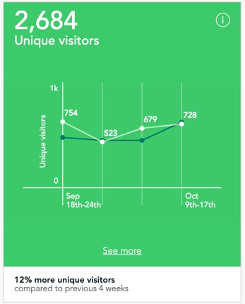 Unique visitor tile in dashboard of Visitor Analytics
